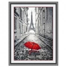 romantyczny obrazek do haftu dla zakochanych - paryż - wieża Eiffla