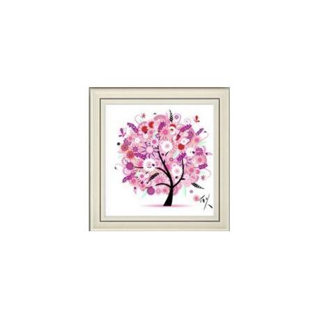 Haft krzyżykowy - Cztery pory roku z drzewem - 1. Wiosna - zestaw do haftu