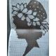 Haft krzyżykowy - Kobieta w kapeluszu wzór na papierze do haftu