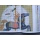 Haft krzyżykowy - Koń z karuzeli wzór na papierze do haftu