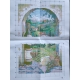 Haft krzyżykowy - Ser i wino wzór na papierze do haftu
