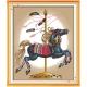 koń na karuzeli - obraz do haftownia krzyżykowego
