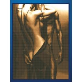 para mężczyzna i kobieta uścisk przytulanie się walentynki obrazek do haftu zestaw