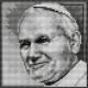 Obrazek do haftu krzyżykowego - kanwa z nadrukiem religijna - Papież - Jan Pawel 2 (No 5642)
