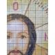 Haft krzyżykowy - Ikona Jezusa Chrystusa - wzór na papierze do haftu