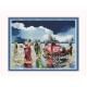 bal na plaży obrazek do haftu ściegiem krzyżykowym - sklep pasmanteria