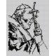 Obrazek do haftu krzyżykowego - kanwa z nadrukiem religijna - Jan Pawel 2 (No 7108)