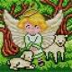 Aniolek z owieczkami (No 5653)