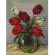 Haft krzyżykowy - do wyboru: kanwa z nadrukiem, nici Ariadna/DMC, wzór graficzny - Tulipany (No 5435)