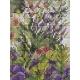Haft krzyżykowy - Kwiaty na schodach - wzór na papierze