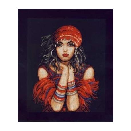 Haft krzyżykowy - Cyganka - obrazek do haftu krzyżykiem