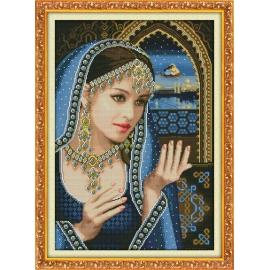 Haft krzyżykowy - Indyjska piękność - zestaw do haftu
