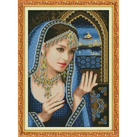 obrazek do haftowania - piękna hinduska