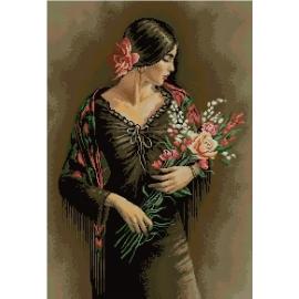 Haft krzyżykowy - Tancerka flamenco - zestaw do haftu