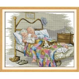 Haft krzyżykowy - Stare dobre małżeństwo - zestaw do haftu