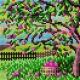 Haft krzyżykowy - do wyboru: kanwa z nadrukiem, nici Ariadna/DMC, wzór graficzny - Drzewo - Lato (No 5617)