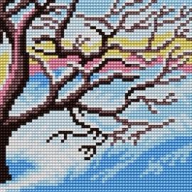 Kanwa do haftu krzyżykowego dla dzieci - Drzewo - Zima (No 5616)