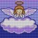 Kanwa do haftu krzyżykowego dla dzieci - Aniołek (No 5612)