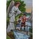 Haft krzyżykowy - do wyboru: kanwa z nadrukiem, nici Ariadna/DMC, wzór graficzny - Anioł Stróż z dziećmi (No 7126) VI