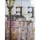 obrazek do haftownia na tkaninie Aida 14 ct - zakochani paryż kawiarnia walentynki