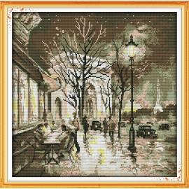 Piękno nocy - zestaw do haftu paryż nocą