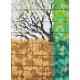 Drzewo z czterema porami roku - wzór na papierze
