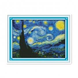 Haft krzyżykowy - Gwiaździsta noc Van Gogha - zestaw do haftu