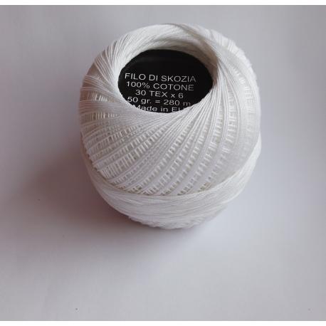 Nić bawełniana biała 60*6