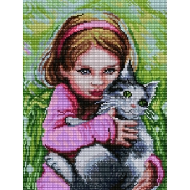 Dziewczynka z kotkiem (No 7138)