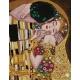 Haft krzyżykowy - do wyboru: kanwa z nadrukiem, nici Ariadna/DMC, wzór graficzny - Pocałunek wg Gustava Klimta (No 7147)