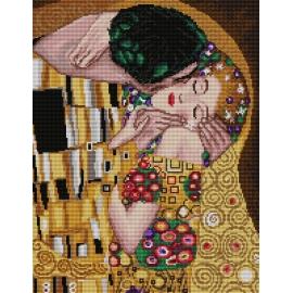 Kanwa z nadrukiem - Pocałunek wg Gustav Klimt (No 7147)
