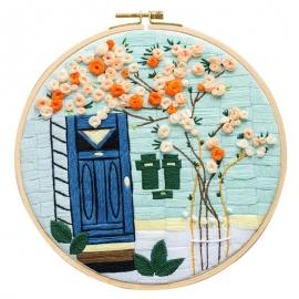 Zestaw do haftu płaskiego - Drzwi i drzewo