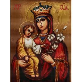 Haft krzyżykowy - do wyboru: kanwa z nadrukiem, nici Ariadna/DMC, wzór graficzny - Ikona (No 7148) VI