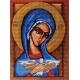 Haft krzyżykowy - do wyboru: kanwa z nadrukiem, nici Ariadna/DMC, wzór graficzny - Ikona - Matka Boska (No 7151) VI