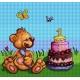 Haft krzyżykowy - do wyboru: kanwa z nadrukiem, nici Ariadna/DMC, wzór graficzny - Pierwsze urodziny (No 5701)