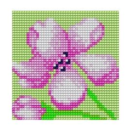 Haft krzyżykowy - do wyboru: kanwa z nadrukiem, nici Ariadna/DMC, wzór graficzny - Kwiatek (No 178)