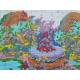 Haft krzyżykowy - Świąteczny kotek i piesek - zestaw do haftu