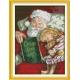 Haft krzyżykowy - Mikołaj z dziewczynką - zestaw do haftu