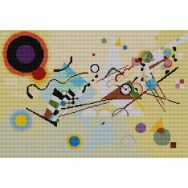 Haft krzyżykowy - do wyboru: kanwa z nadrukiem, nici Ariadna/DMC, wzór graficzny - Kandinsky - Kompozycja VIII (No 7098)