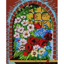 Kwiaty w oknie (No 374)