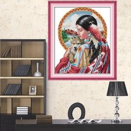 Haft krzyżykowy - Indianka - zestaw do haftu